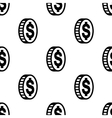 Dollar icon sign Seamless pattern on a gray vector image