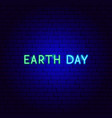 earth day neon text vector image