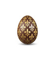 easter egg 3d icon chocolate egg isolated white vector image vector image