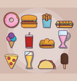 fast food design vector image vector image