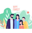 father mother daughter son family together outdoor vector image vector image