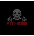 fitness skull vector image vector image