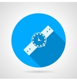 Flat icon for watch vector image vector image