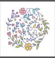 floral decor set different botanical decor vector image vector image