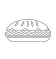 food pie icon vector image