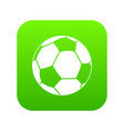 football ball icon digital green vector image vector image