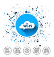 free wifi sign wifi symbol wireless network vector image vector image