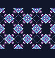 geometric mosaic seamless pattern on a black vector image vector image