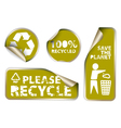 green label badges vector image vector image