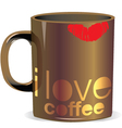 I love coffee mug vector image vector image