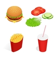 isometric food burger vector image vector image
