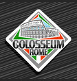 logo for roman colosseum vector image