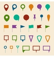 Map navigation pin pointer symbols vector image vector image