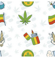 marijuana attributes icons set one vector image vector image
