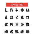 marketing thin line icons linear vector image