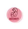 maternity logo concept - beauty woman with newborn vector image