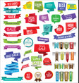 modern sale banners and labels collection 10 vector image