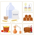 Moonshine and whiskey vector image vector image
