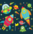 Outer Space Element set vector image