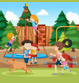 park and playground scene vector image vector image