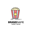 popcorn theater movie snack business logo vector image