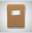 realistic brown notebook vector image vector image