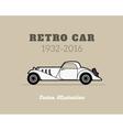 Retro cabriolet sport car vintage collection vector image vector image