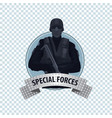 round icon with special law enforcement unit vector image vector image