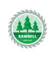 sawmill service - logo template concept vector image