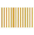 seamless golden decoration chain braid ornament vector image