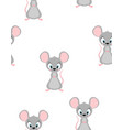 seamless pattern with cute rat vector image vector image