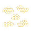 set icons honeycomb isolated vector image vector image