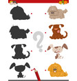 shadow activity with cartoon dogs vector image vector image