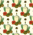 Sketch Christmas pattern vector image