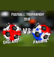 soccer game england vs panama vector image vector image