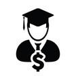 student icon male person profile avatar symbol vector image