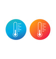thermometr in circle hot and cold concept weather vector image