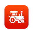 toy train icon digital red vector image vector image