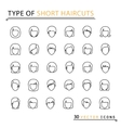 type of short haircuts vector image vector image