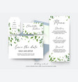 wedding save the date place card label cards vector image