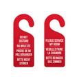 do not disturb and service my room door signs vector image