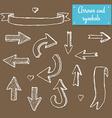 Sketch set of arrows vector image