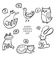 animal doodles vector image