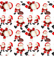 a seamless santa patterns vector image