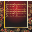 abstract red frame with patterns vector image