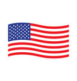 american waving flag vector image vector image