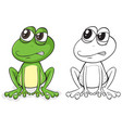 animal outline for frog sitting vector image vector image