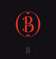 b r monogram combined letters beautiful classic vector image vector image