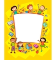 banner kid child Funny cartoon character vector image vector image