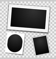 blank photo frames template mockup with vector image vector image